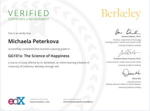 Certifikát o absolvování kurzu